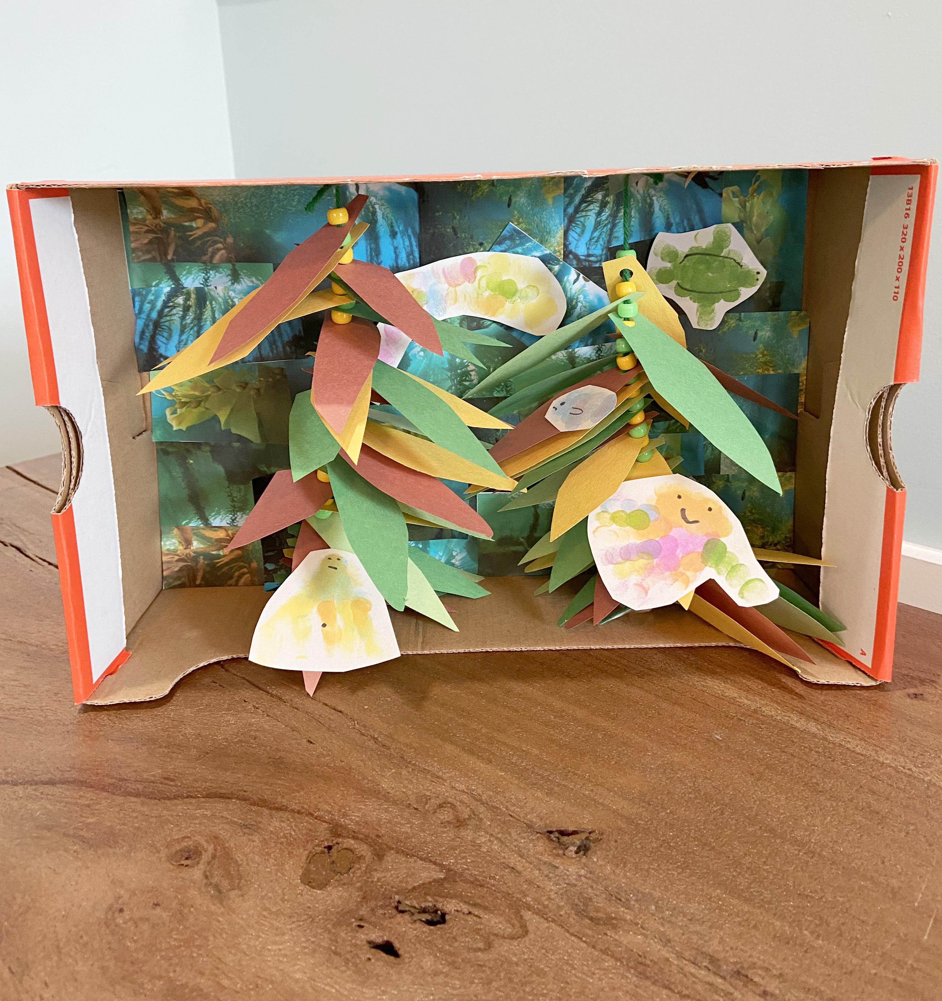 Kelp forest craft for kids - complete