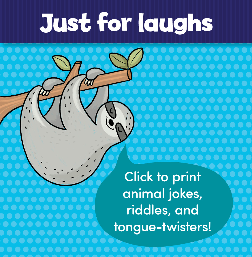 Click for animal jokes, riddles, and tongue-twisters