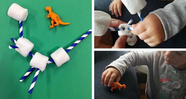 Build a dinosaur STEM activity for kids