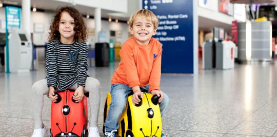 keep children entertained on flight