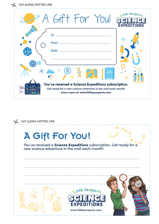 Gift Announcement Science Expeditions