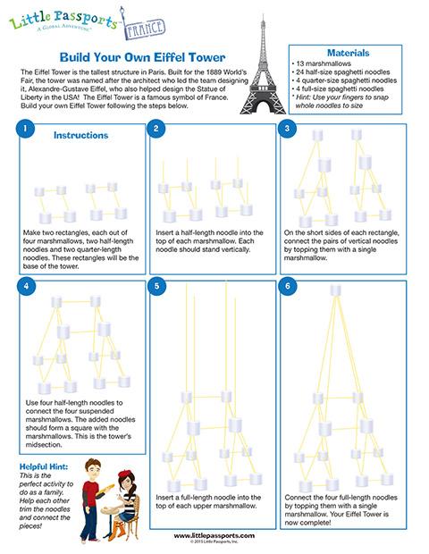 Eiffel Tower Spaghetti Model