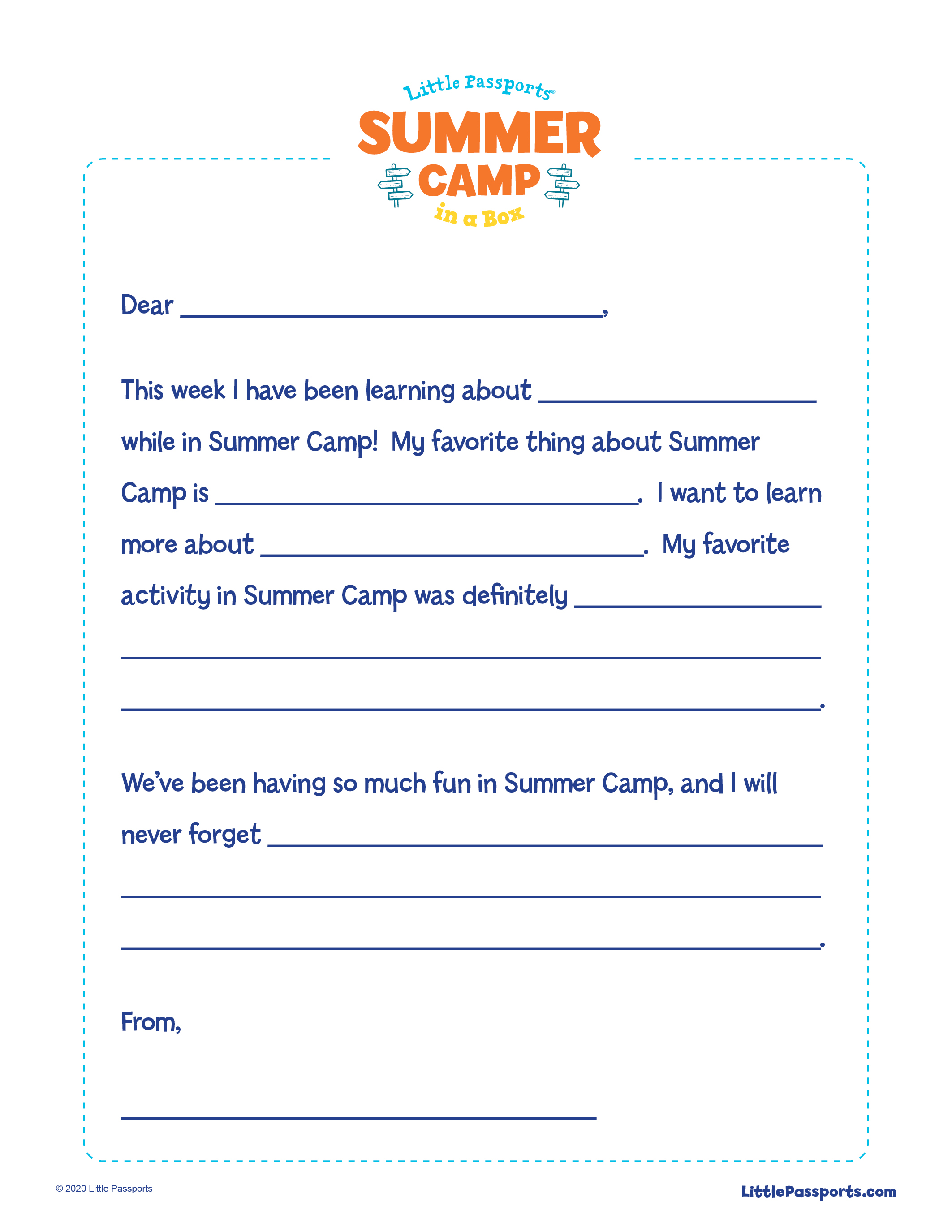 Letter from Camp