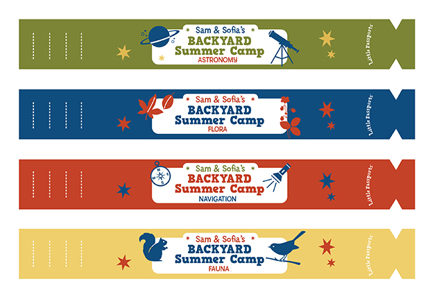 graphic about Printable Wristband named Summertime Camp Wristbands - Minimal Pports