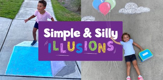 Funny Optical Illusion Chalk Drawings for Kids