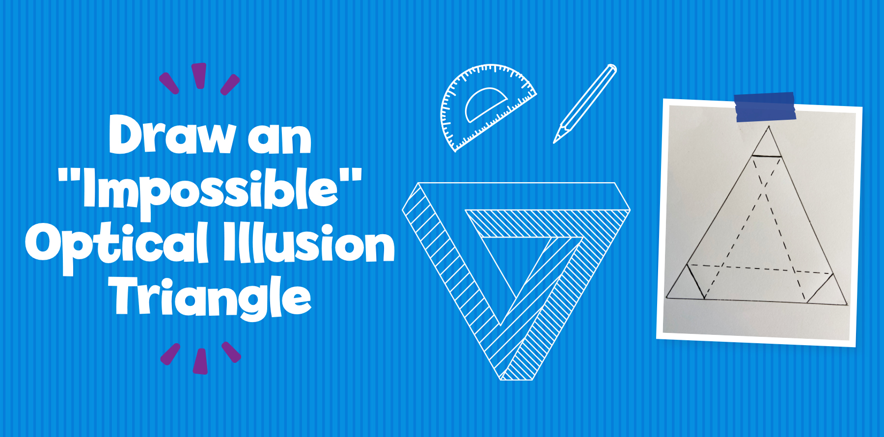 Draw an Impossible Optical Illusion Triangle