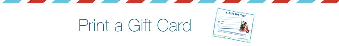 Print a Little Passports Gift Card