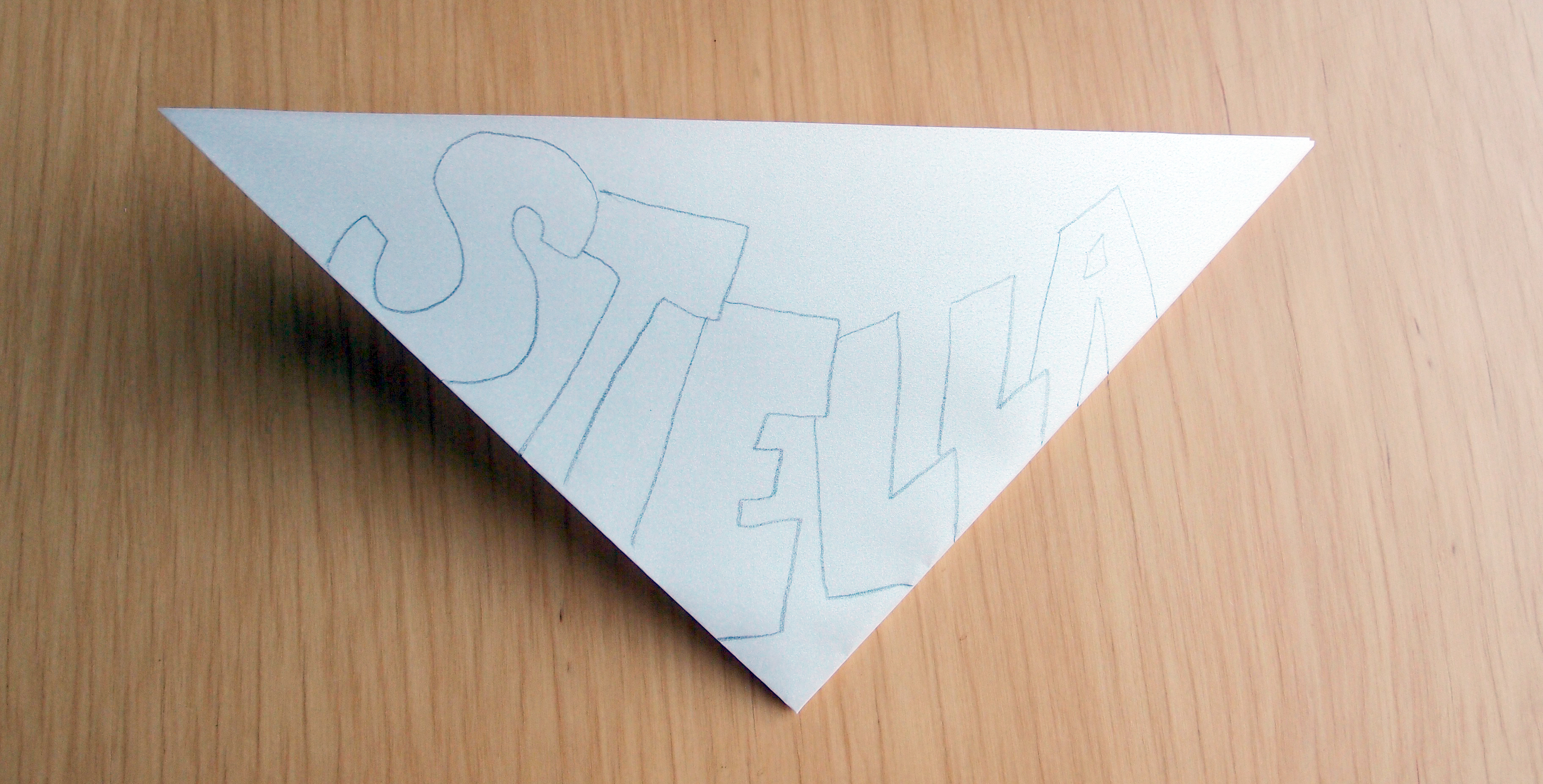 Stella's name on a snowflake