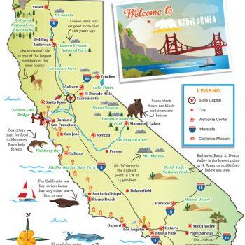 Visit California Little Passports - Ca state map