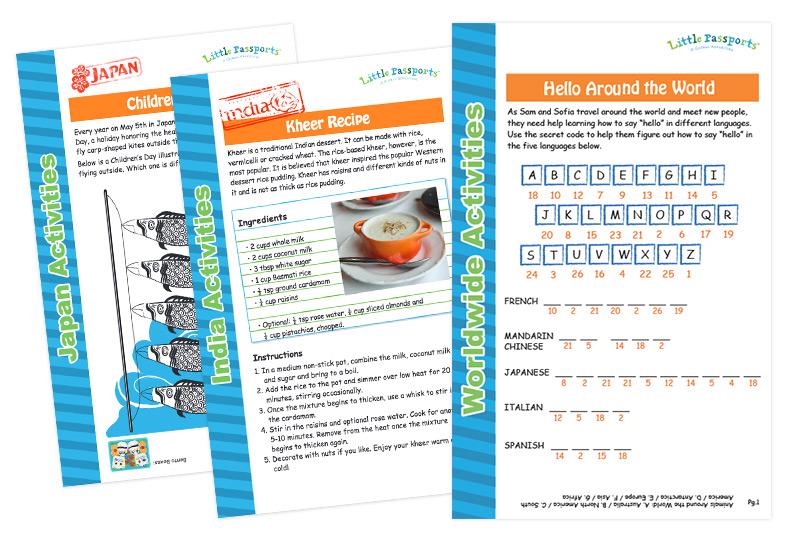 World Edition activity sheets