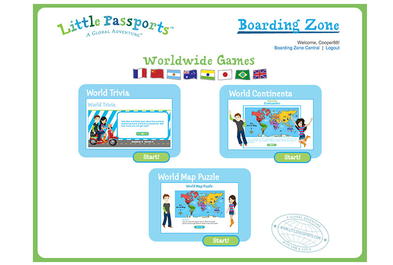 Access to online games in our boarding zone
