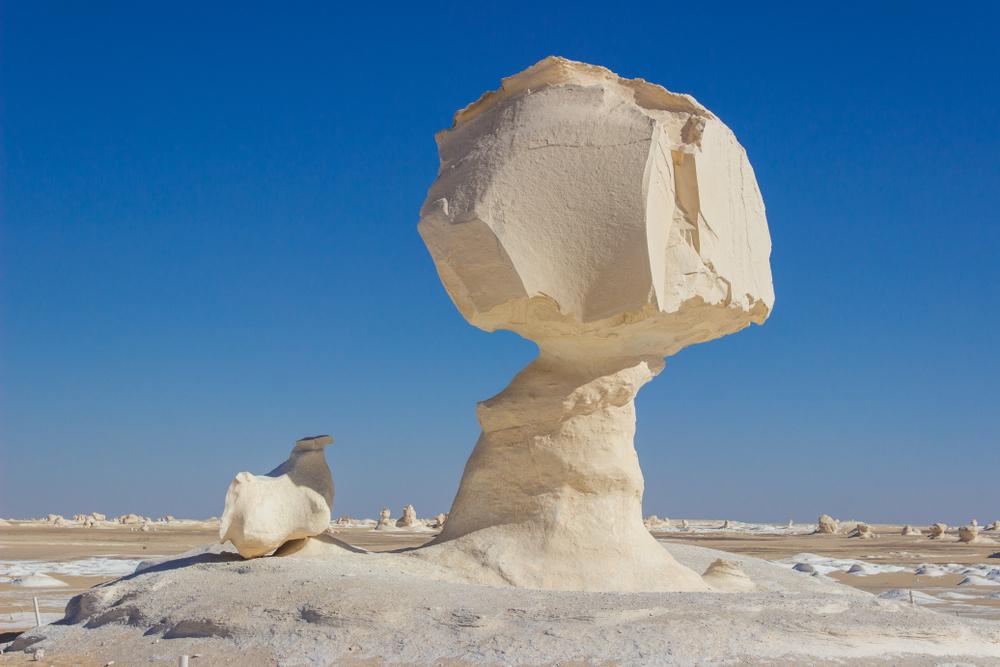 White Desert stone in Egypt - Little Passports photo gallery
