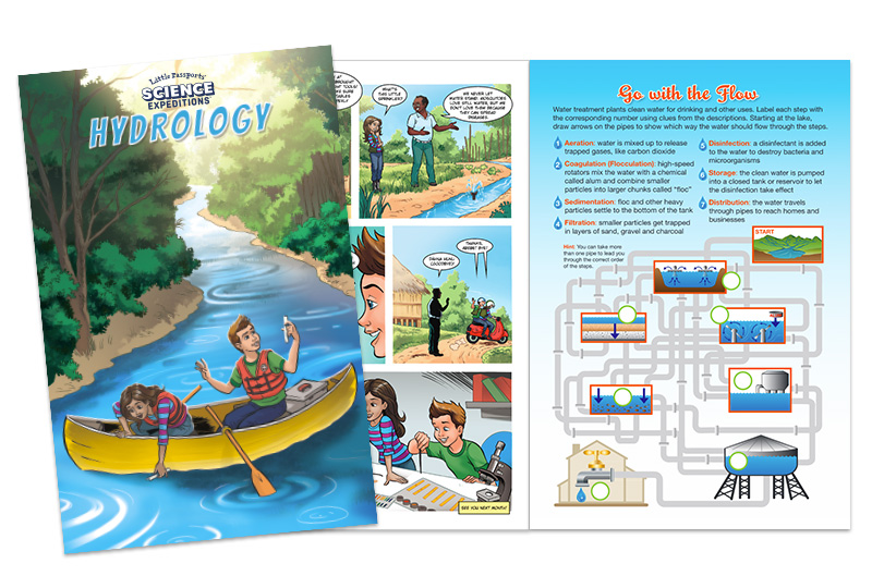 16-Page Comic Book With Glossary and STEM Activities