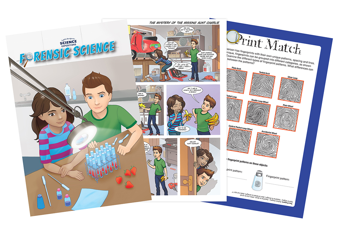Forensics Science Comic Book For Kids