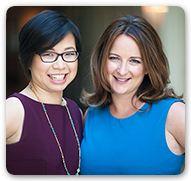 Photo of Little Passports Co-Founders, Amy Norman and Stella Ma