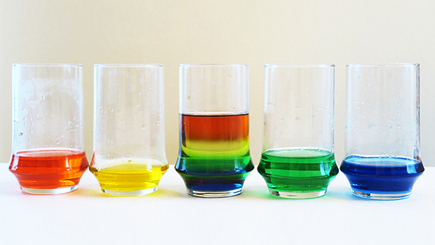 Sugar Water Density Science Experiment for Kids on the blog