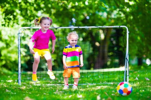 Kids playing soccier