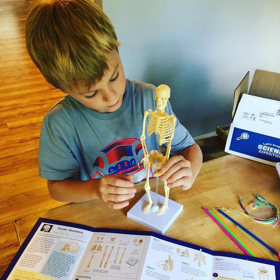 Little boy enjoying science subscription Science Expeditions