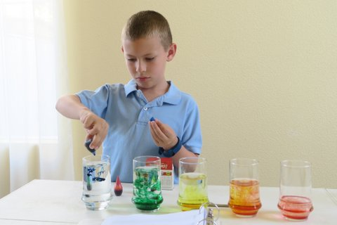 Adding Food Coloring to Water Xylophones