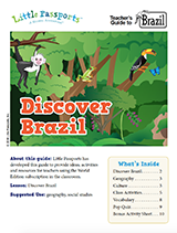 Brazil geography worksheets and lesson plans for kids ages 6-10
