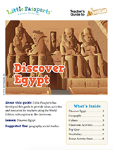 Egypt geography lesson plans for kids ages 6-10