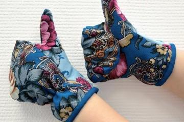 Как сшить рукавички из платка