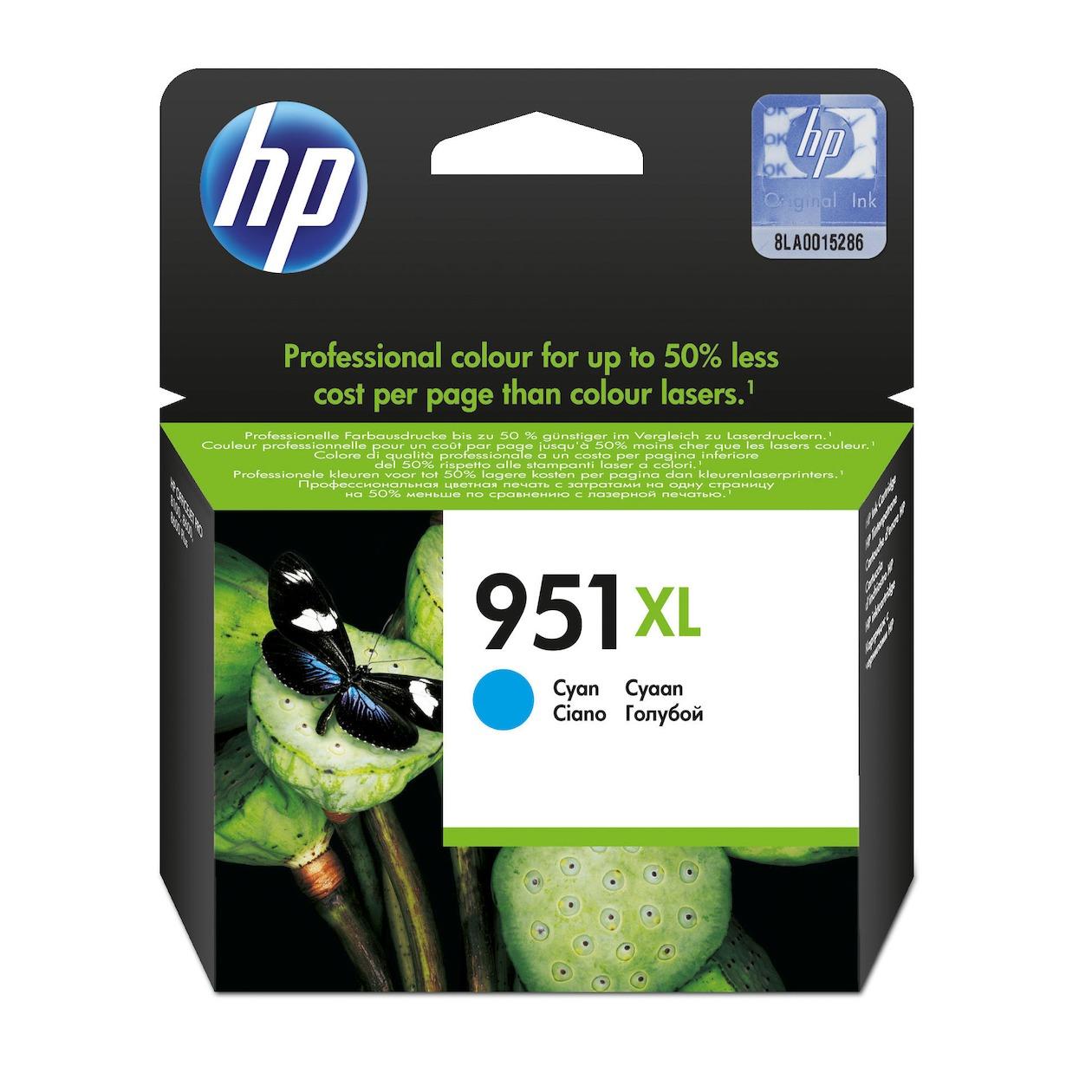 HP inkt 951XLCYAN