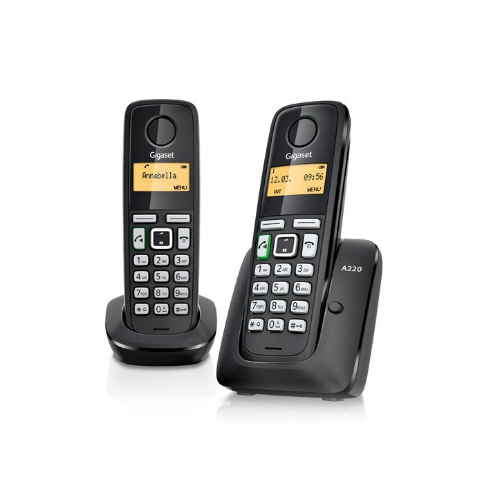 Gigaset dect telefoon A220 DUO zwart