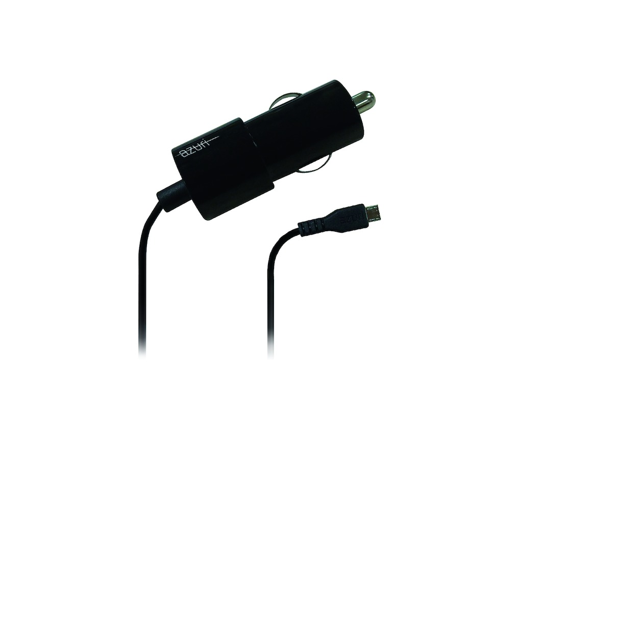 Afbeelding van Azuri oplader Autolader Micro USB zwart