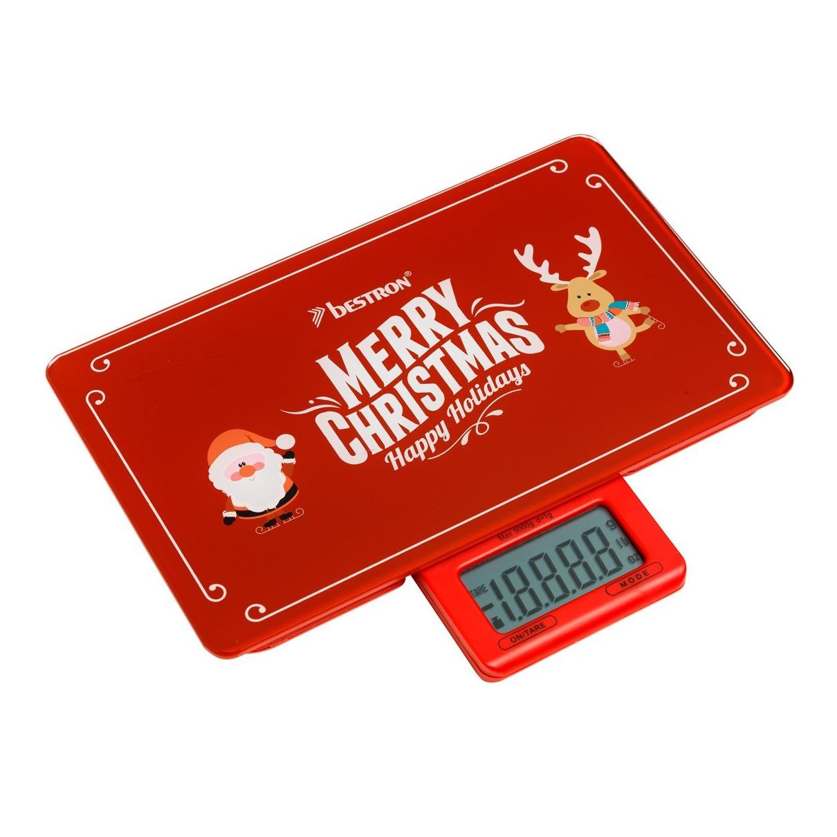 Bestron AKS300C Digitale Merry Christmas Keukenweegschaal