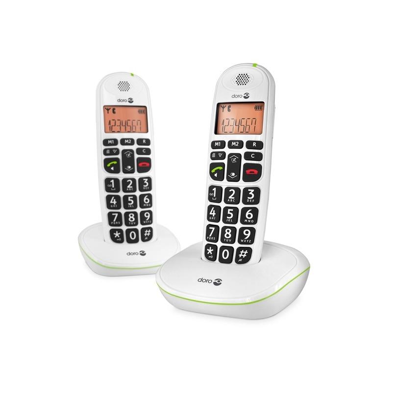Doro dect telefoon PhoneEasy 100w Duo wit