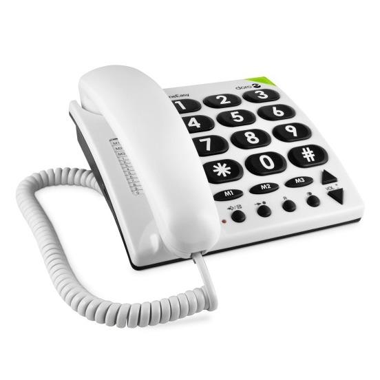 Doro dect telefoon PhoneEasy 311c wit