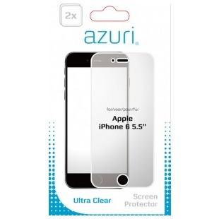 Azuri 2 x Flexibele Screen Protector voor Apple iPhone 6 Plus/6S Plus transparant