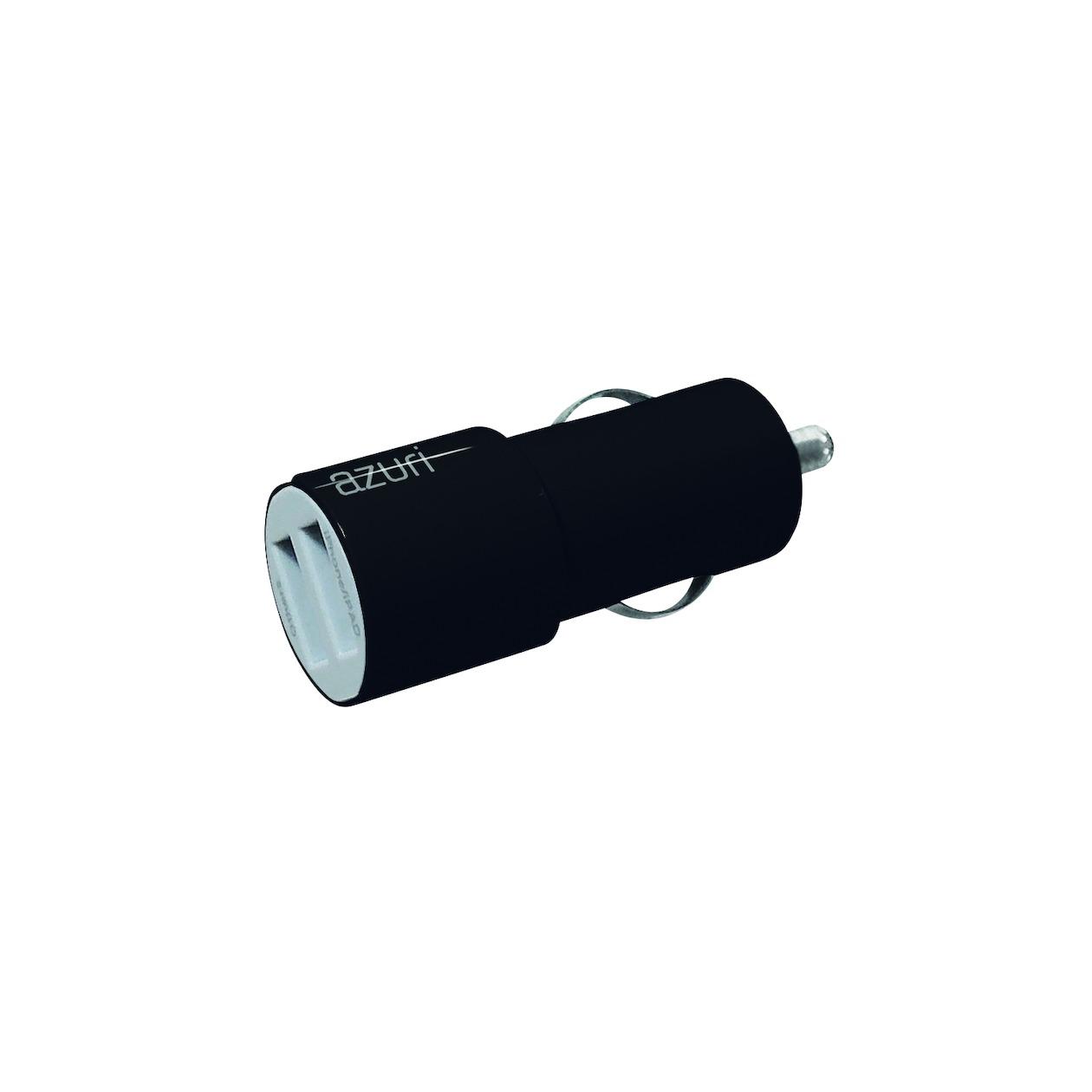 Afbeelding van Azuri oplader Autolader 12V 2 x USB adapter 3,4Amp zwart