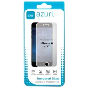 Azuri smartphone screenprotector Tempered Glass Screen Protector voor Apple iPhone 6 6S transparant