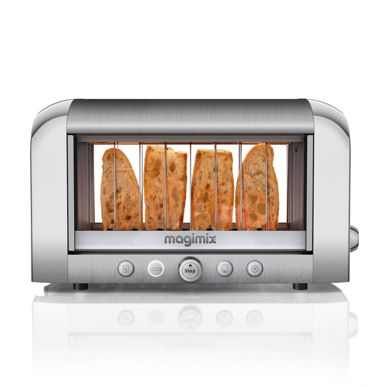 Magimix broodrooster Vision Toaster mat chroom