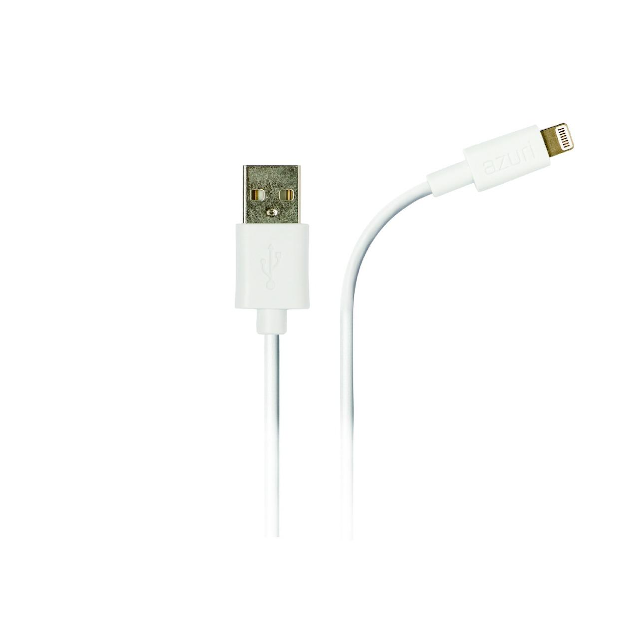 Afbeelding van Azuri oplader Apple lightning datakabel wit