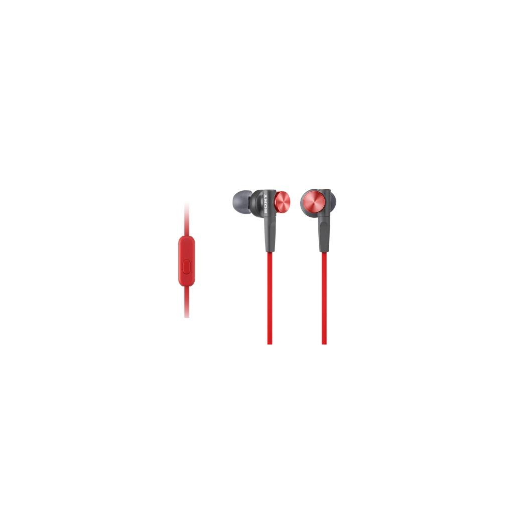 Sony in-ear oordopjes MDR-XB50AP rood