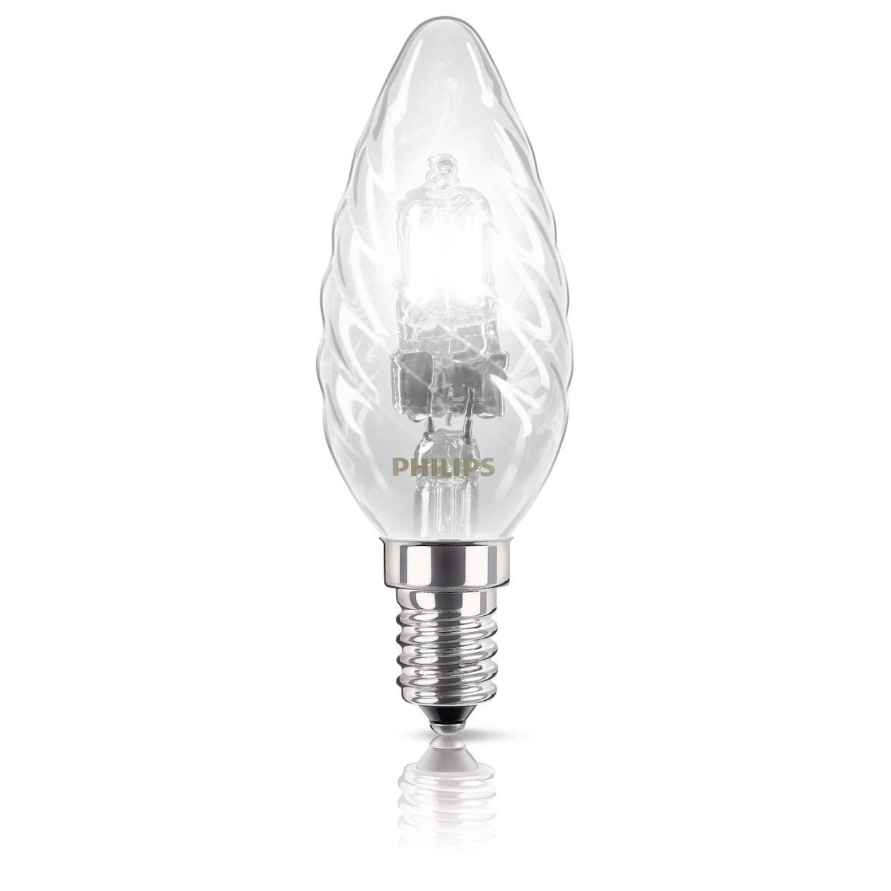 Philips halogeenlamp E14 42W 630Lm kaars gedraaid