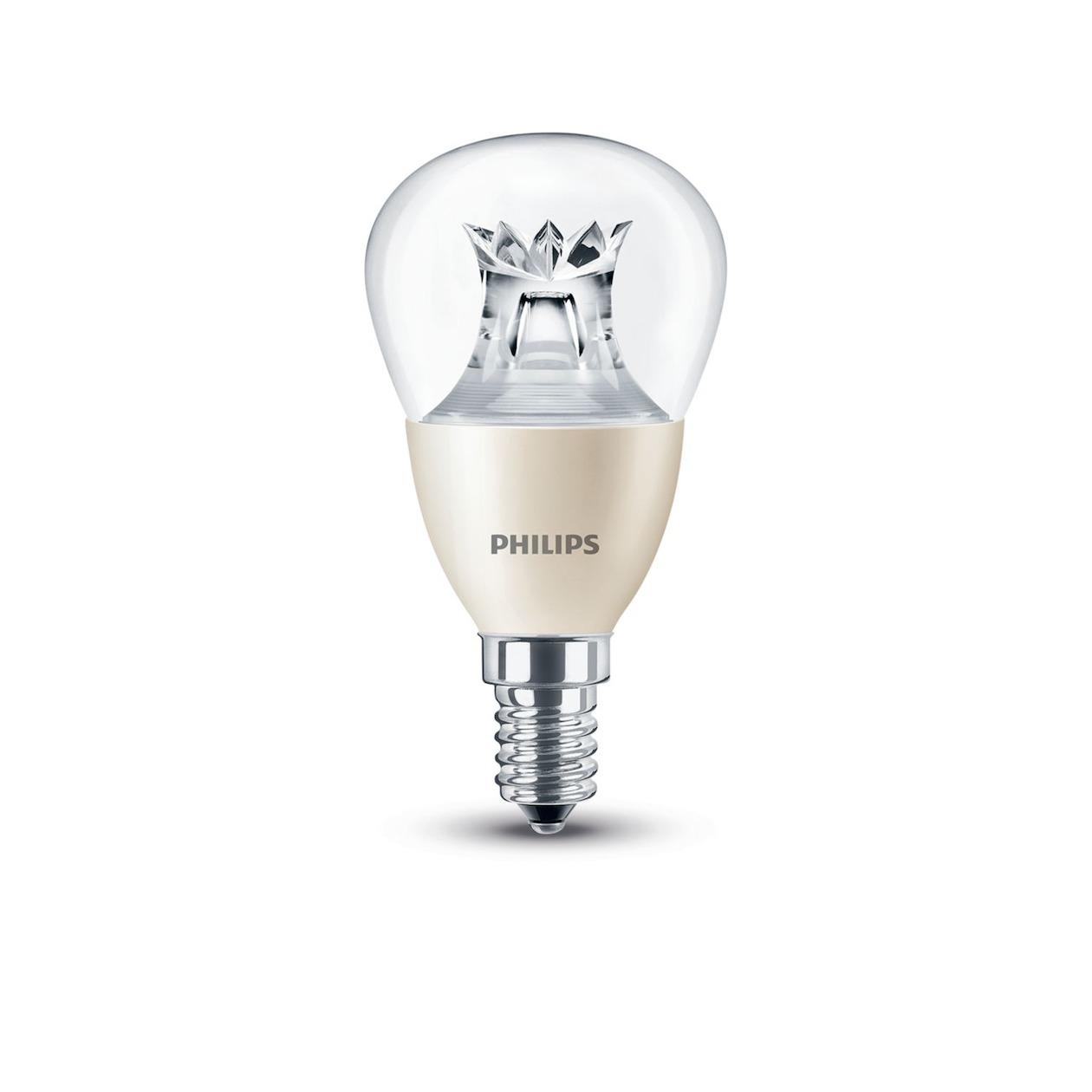 Philips LED lamp E14 6W 470Lm kogel helder dimbaar