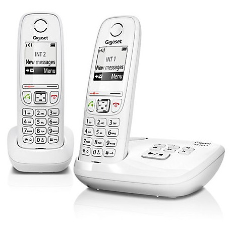 Gigaset dect telefoon AS405A DUO wit