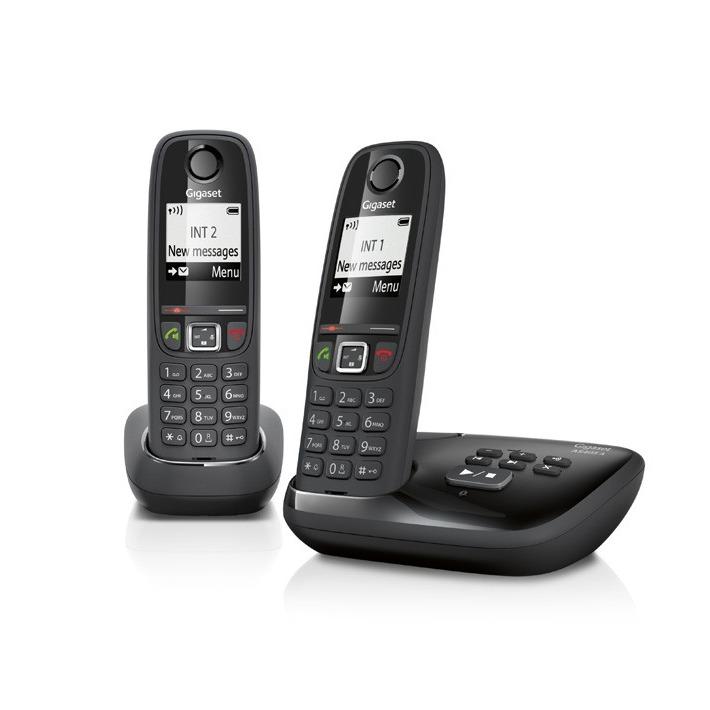 Gigaset dect telefoon AS405A DUO zwart