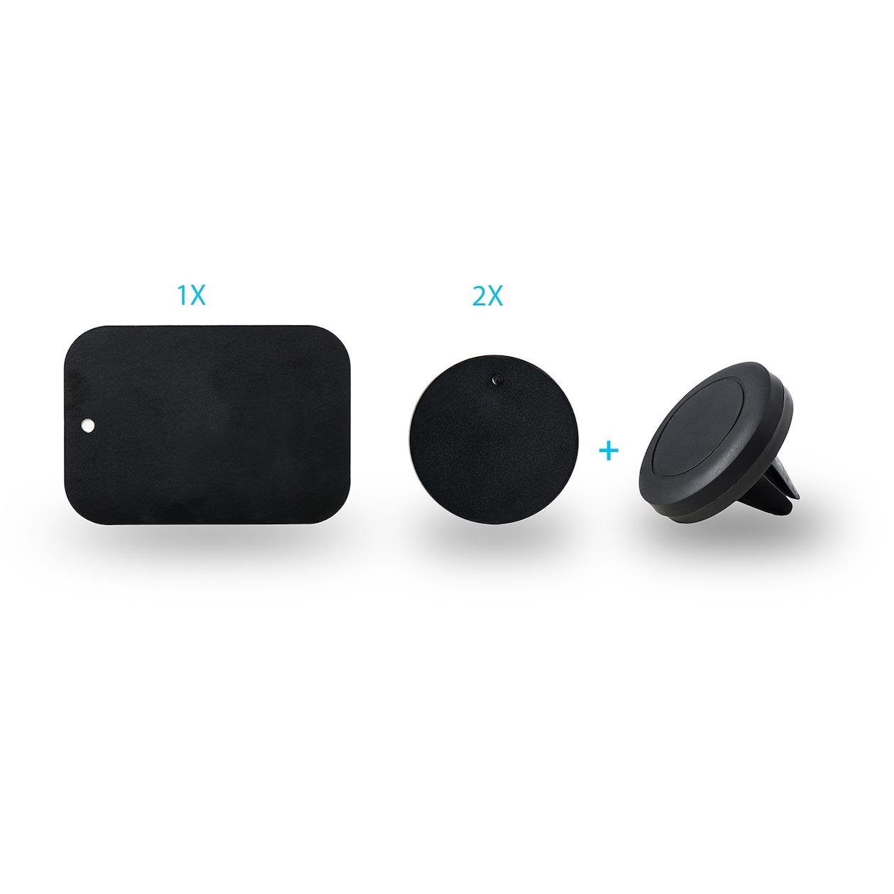 Azuri telefoonhouder Universele Smartphone Autohouder voor de luchtrooster zwart
