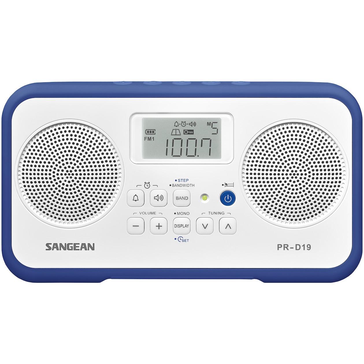 Sangean wekker radio PR-D19 donkerblauw