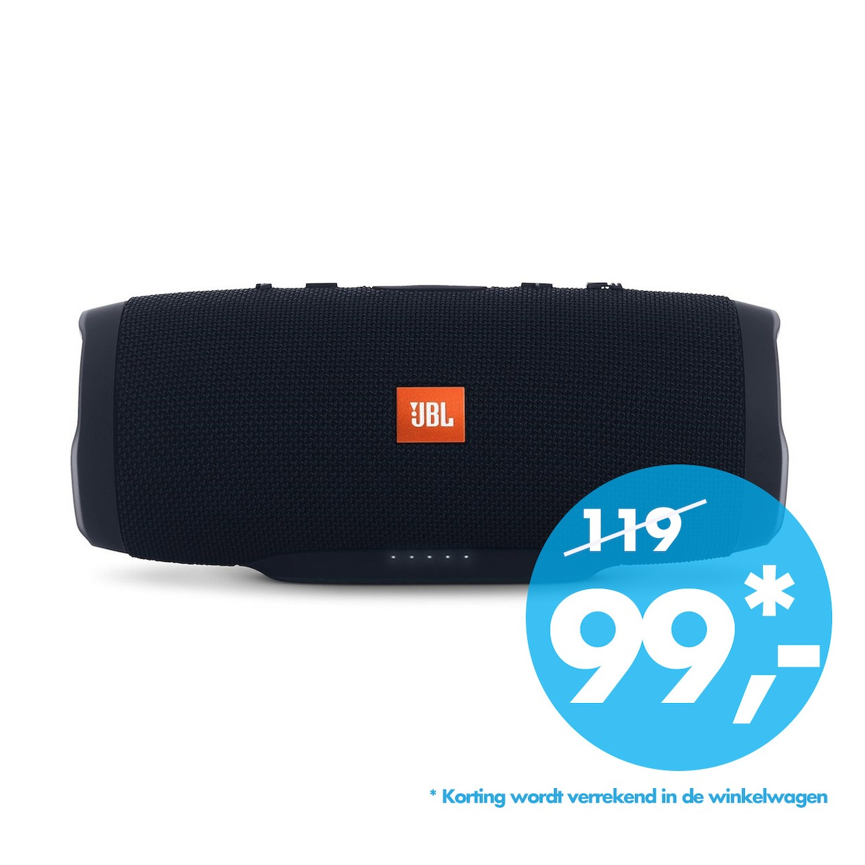 JBL bluetooth speaker Charge 3 zwart