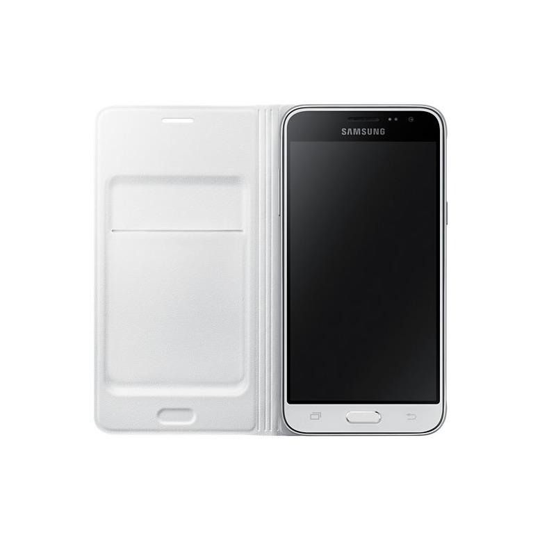 Samsung Flip Wallet Cover - voor Galaxy J3 wit