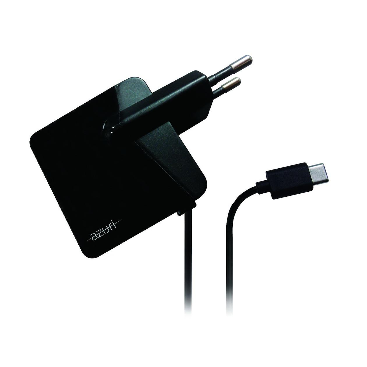 Azuri thuislader USB type C fix cable 2.4amp 1.2m