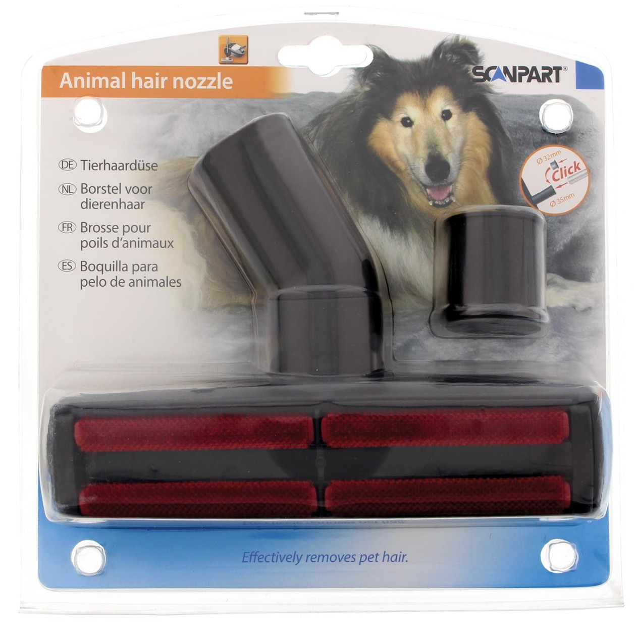 Scanpart borstel honden- en kattenhaarborstel 32+35mm