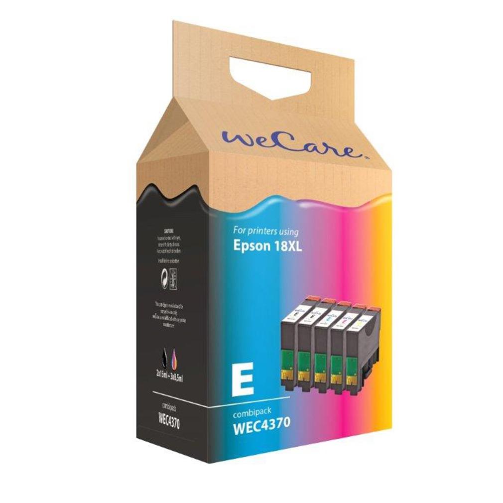 Wecare inkt cartridge combipack zwart kleur 5 stuks