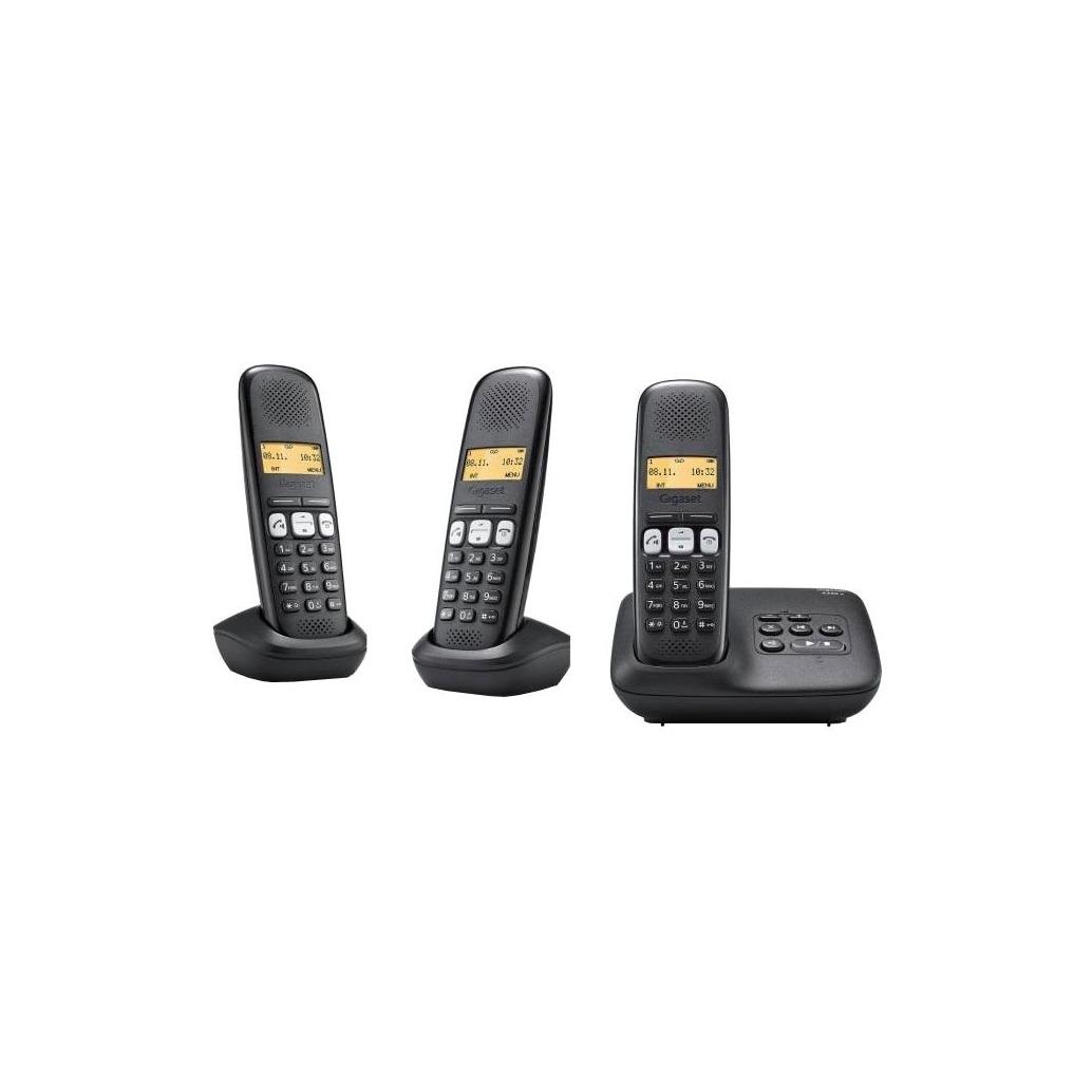 Gigaset dect telefoon A250A TRIO zwart